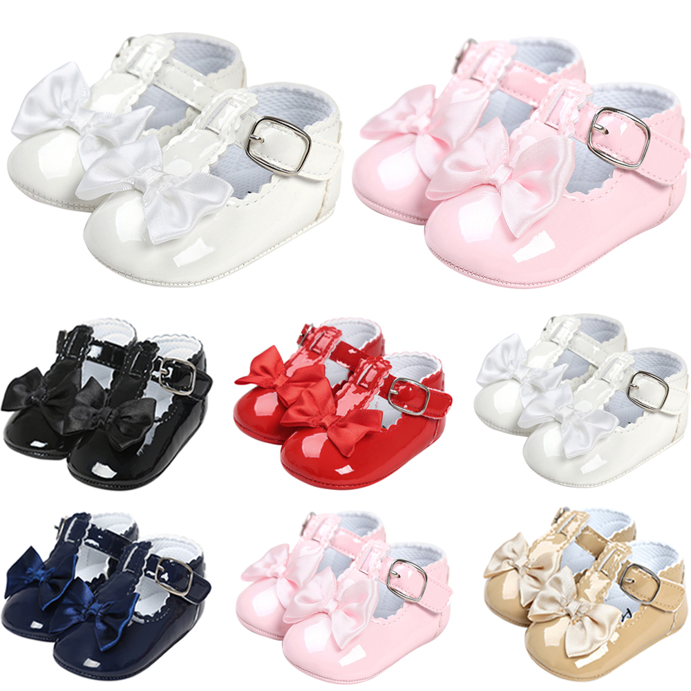 Baby Infants Baby Girls Shoes Soft Bowk Shoes Sole Newborn ...
