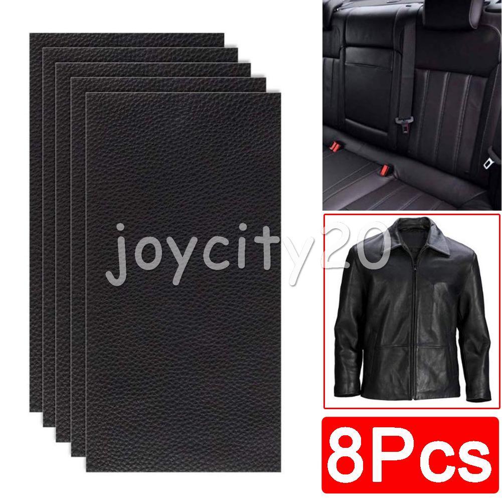 8x Schwarz Leder Reparatur Stoff Set Flicken Patches ...