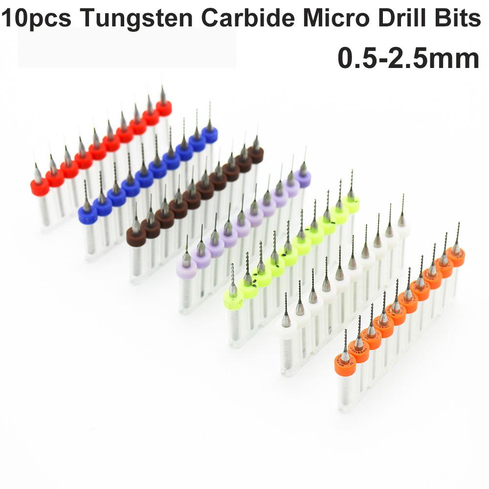10 Stücke PCB Leiterplatte Hartmetall Micro Bohrer Werkzeug 0,3mm bis 1,2mm YG