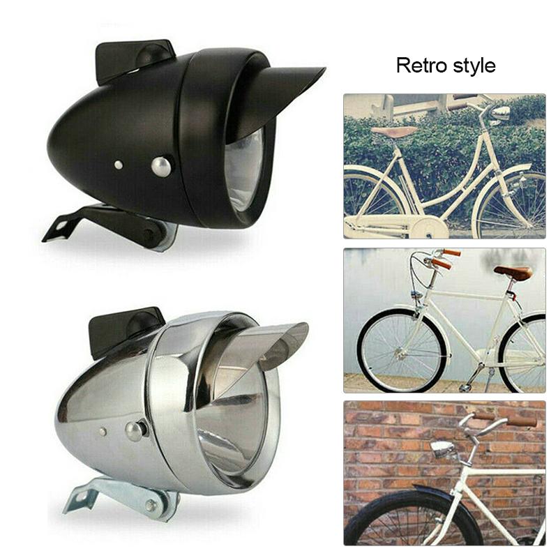 Retro Vintage Bike LED Bicycle Headlight Front Light Night Fog Head Lamp Torch