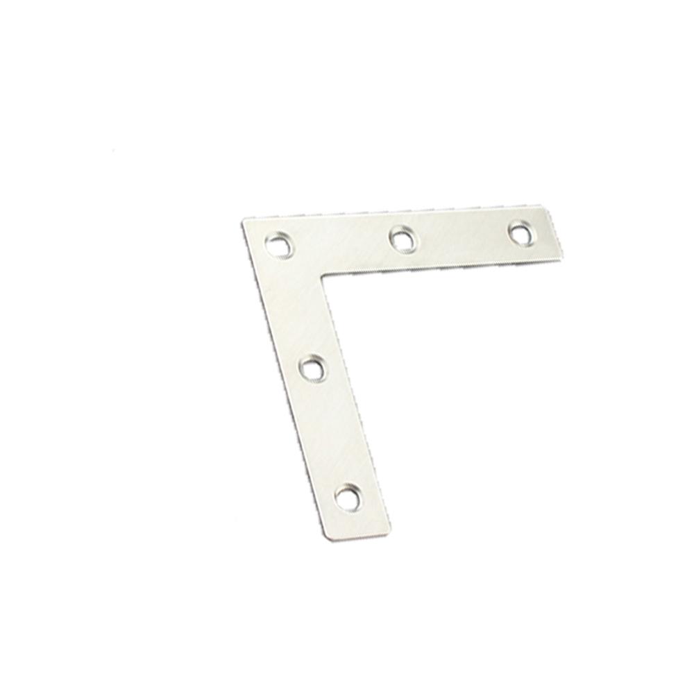 Flat Brackets Decorative Corner Brace L Shape Plate Black 150 200 250 300 KASHOO