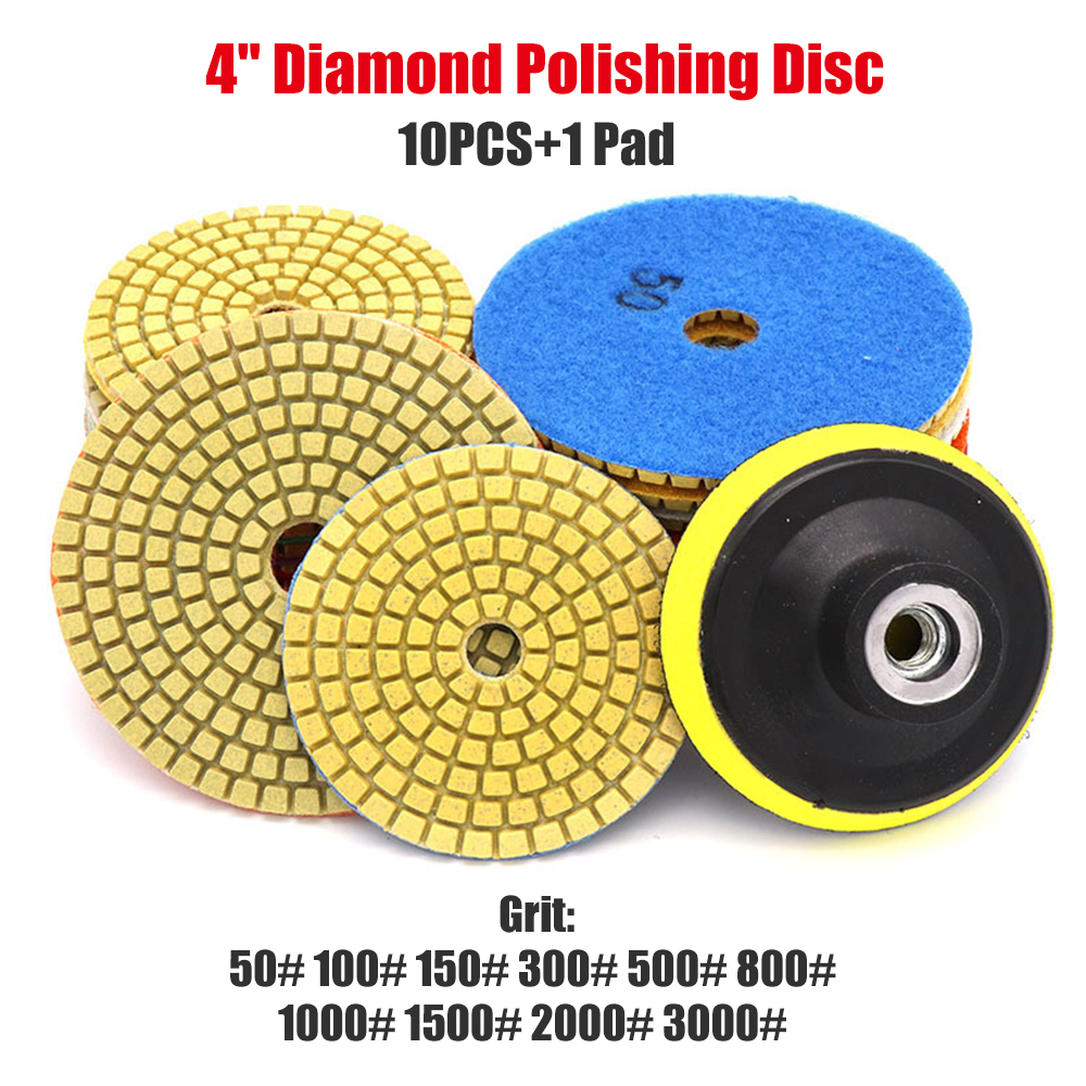 300 5 inch 125mm Wet Diamond Polishing Pads Grinding Discs for Granite Concrete Marble Grinding Disc