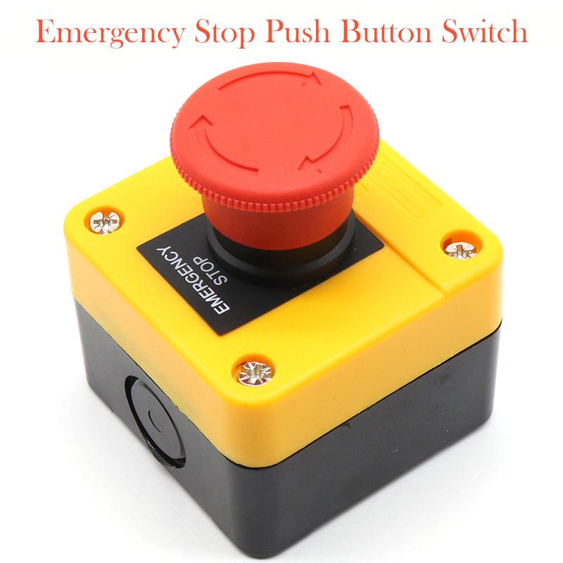 2 Stück  Notausschalter Not Aus Taster  Emergency Stop Button Pilzschalter