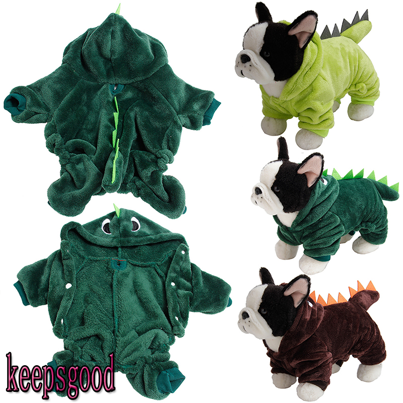 Puppy Dog Funny Pet Clothes Cat Halloween Dinosaur Hoodie Costume Outfit Coat 5