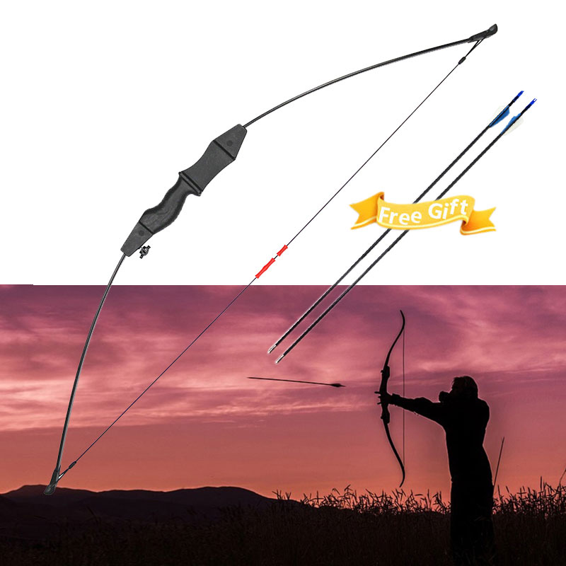 40lbs Archery YN-1 Black American hunting Straight bow Hunting Game Outdoor