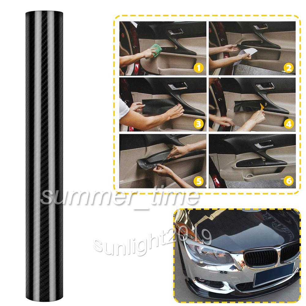 5D Carbonfolie Autofolie Folie Carbon Auto schwarz glanz glänzend 50cmX152cm