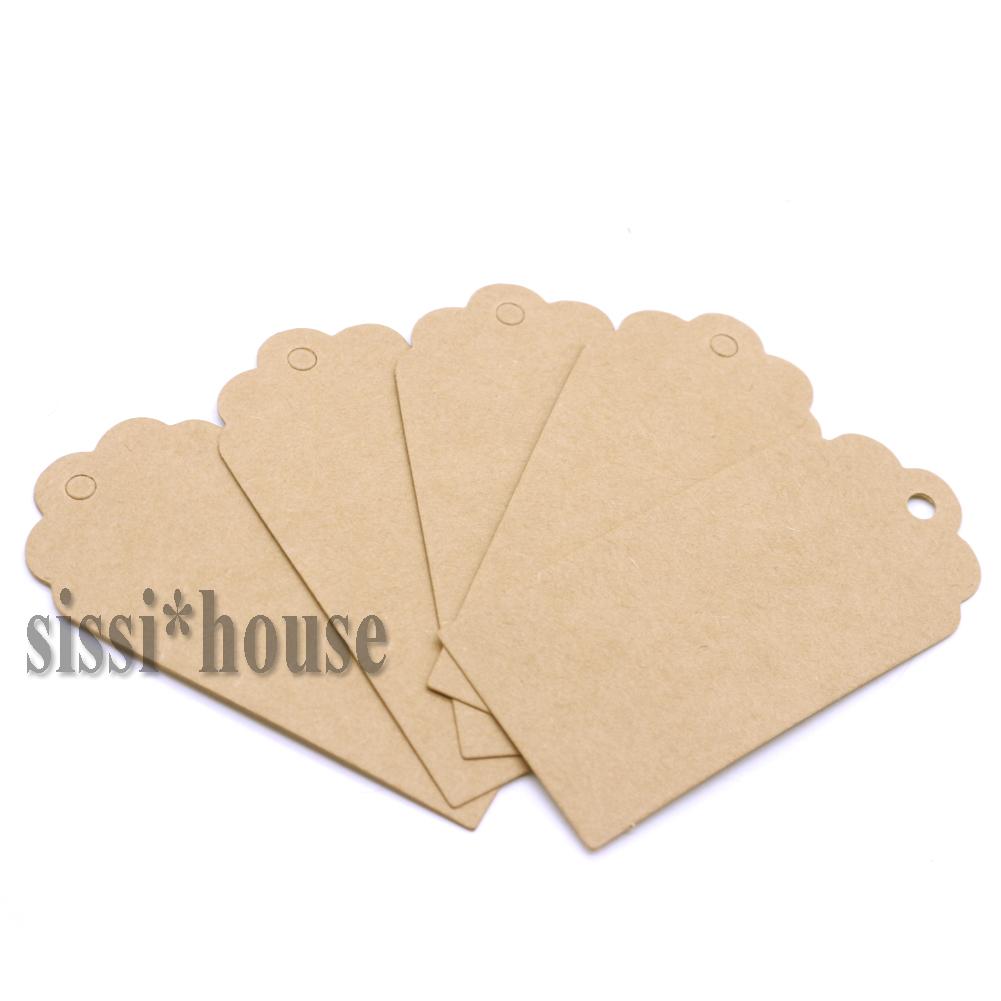 100X Anhänger Kraftpapier Gift Tag Etiketten Geschenkanhänger GeschenkkartenTool