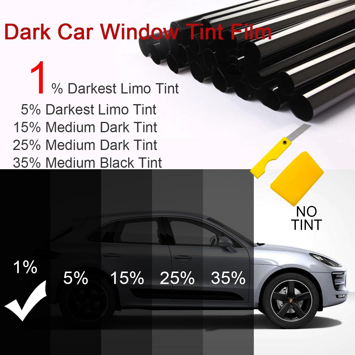 Mitsubishi Eclipse 89-94 PreCut Window Tint Dark Black 15/% VLT Auto Film