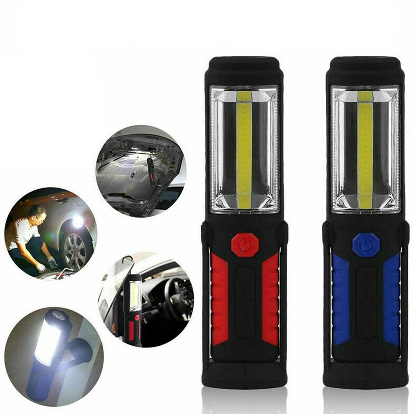 20000LM Mini Portable flashlight COB LED Multifunction Work Light Magnetic Base