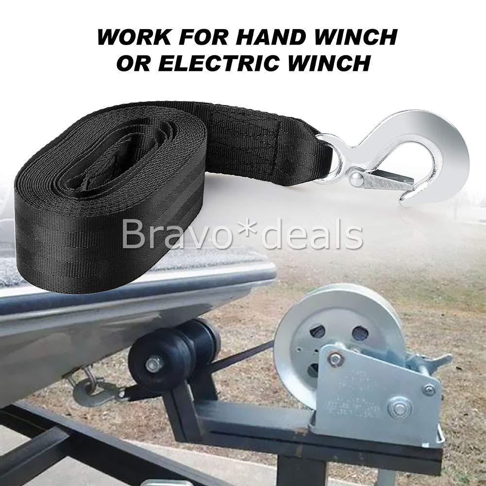 Boat Trailer Hand Winch Strap Replacement 8m X 50mm Up To