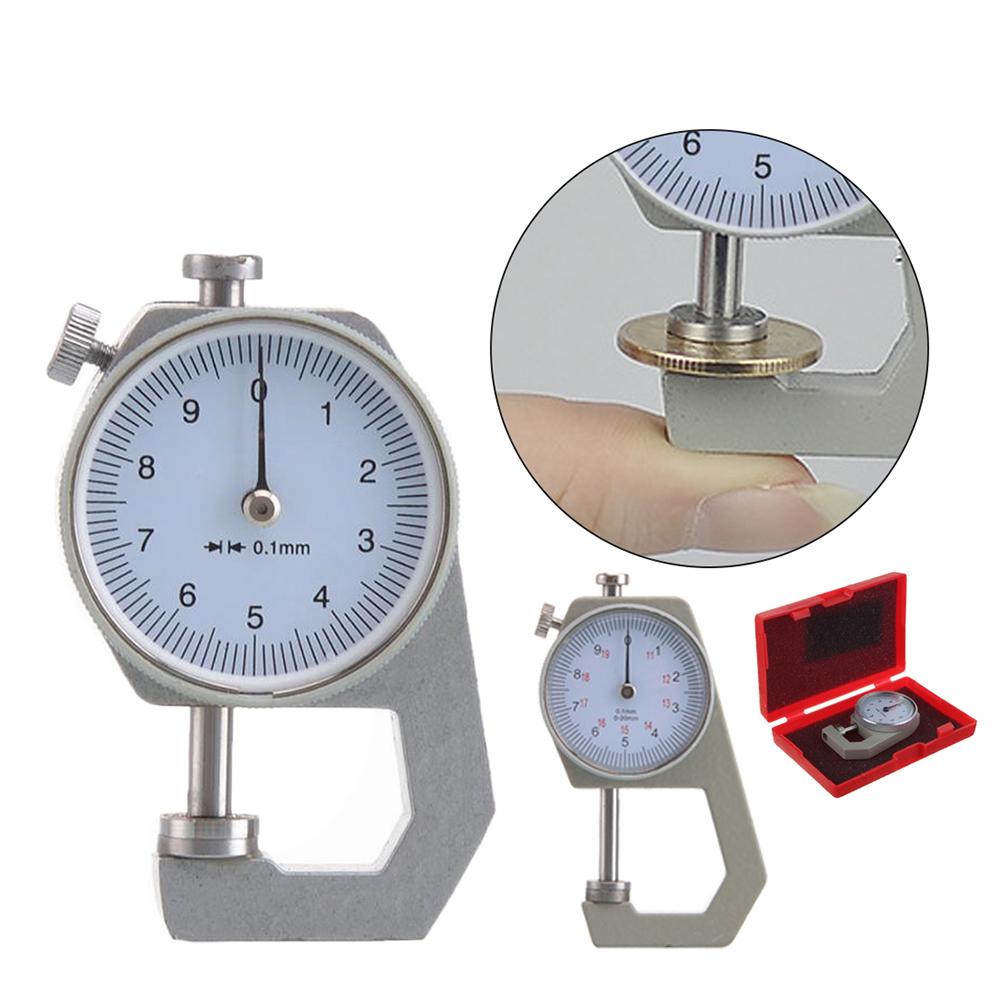 Dickenmessgerät Schnelltester Messuhr Anzeige 0-10 mm 0,1 mm in Box S3//B1