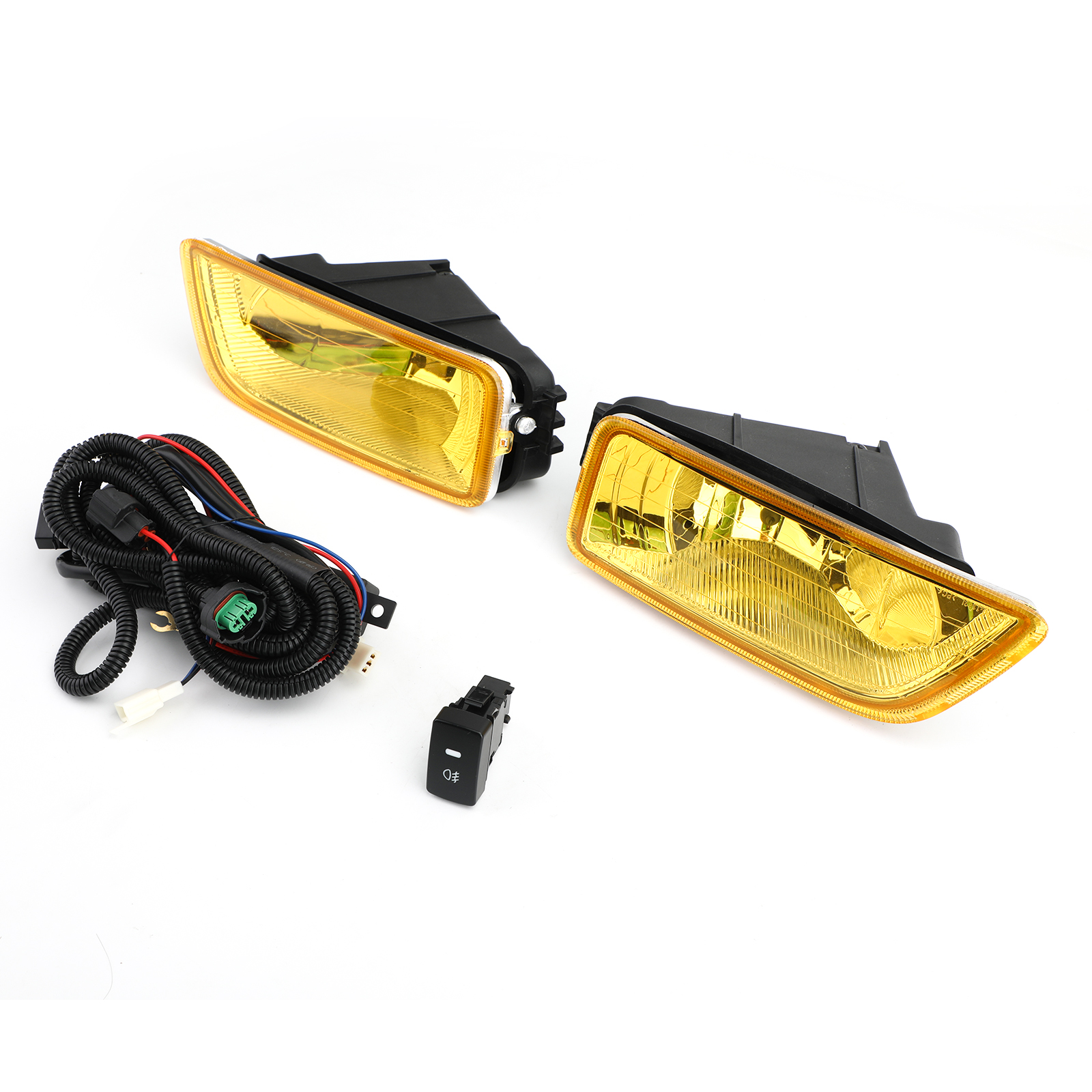 Yellow Lens Fog Lights + Switch For 2003-07 Honda Accord