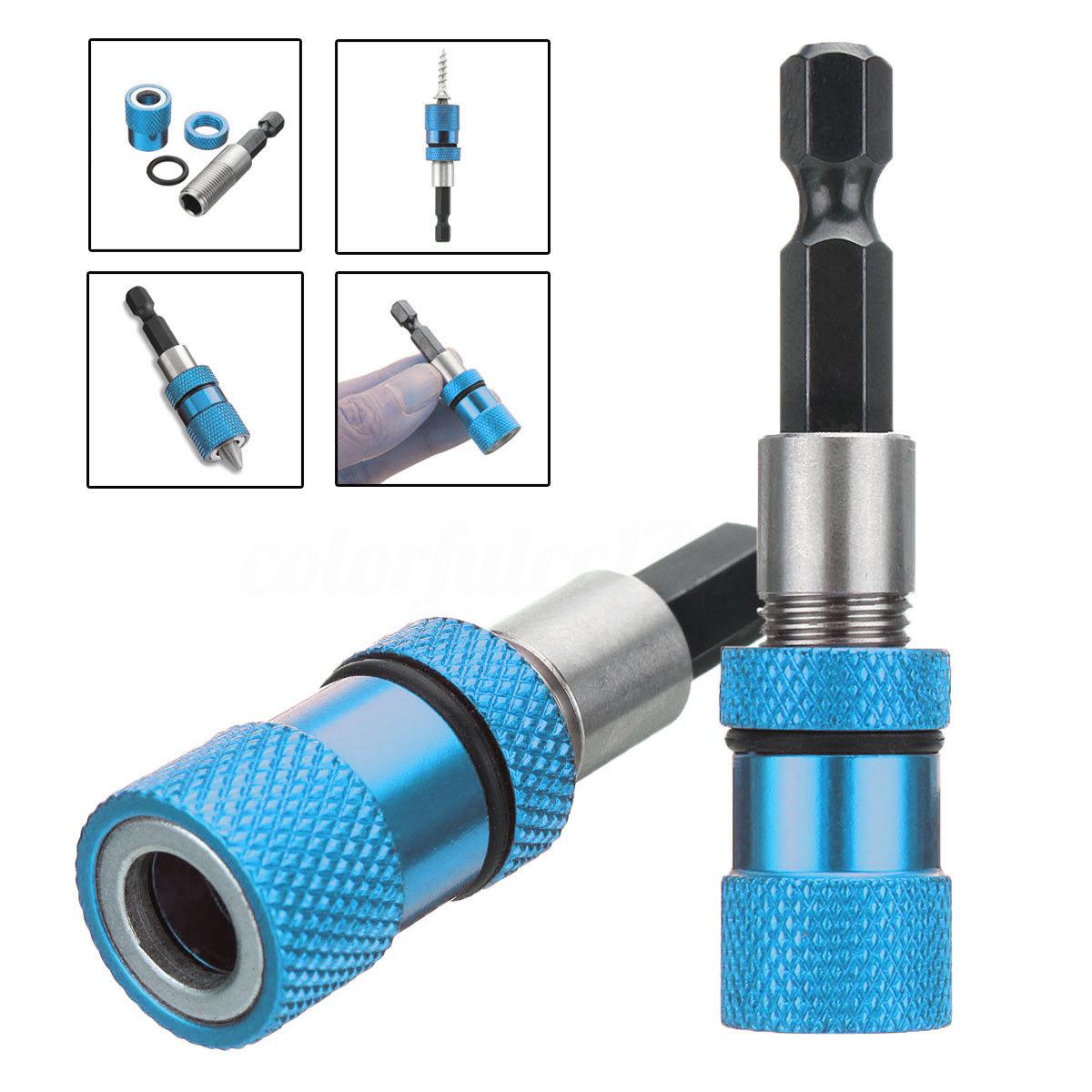 2x Schnellwechsel Socket Magnetische Bithalter Bit Halter Schnellwechselsystem Z