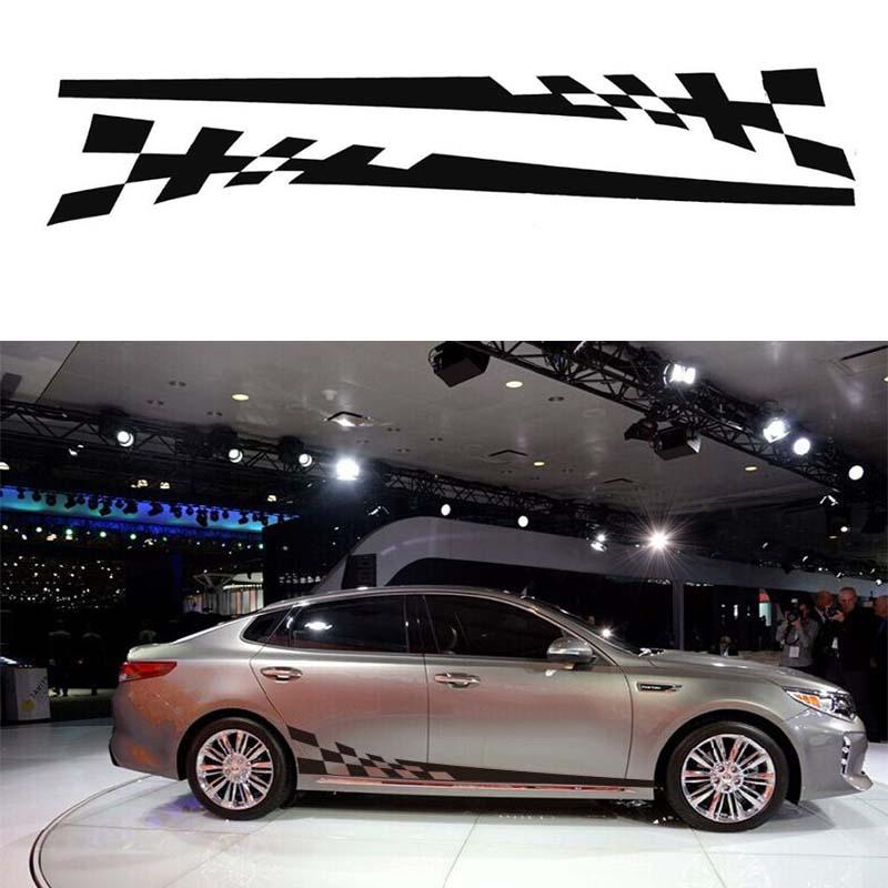 2x Car Dekor Auto Tuning Design Zierstreifen 40cm in schwarz matt ...