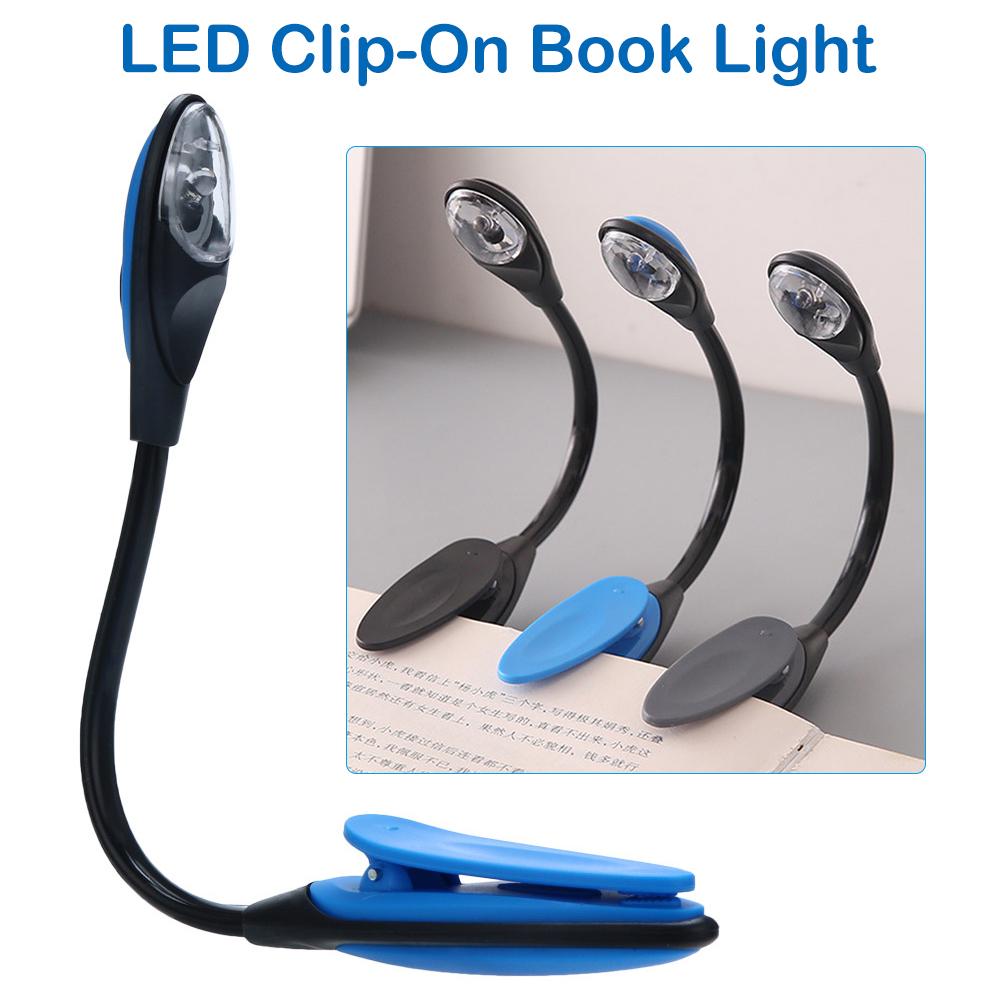 Neu Klemmleuchte Clip LED-Clip Leselampe mit LED Power Buchleuchte Leuchte Lampe