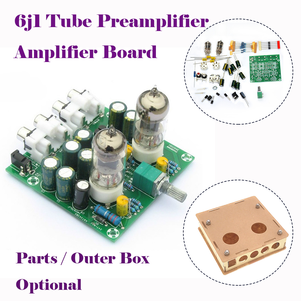 Details about Tube Amplifier Audio Board Pre-Amp Mixer 6J1 2 0 Stereo Valve  Bile Buffer DIY
