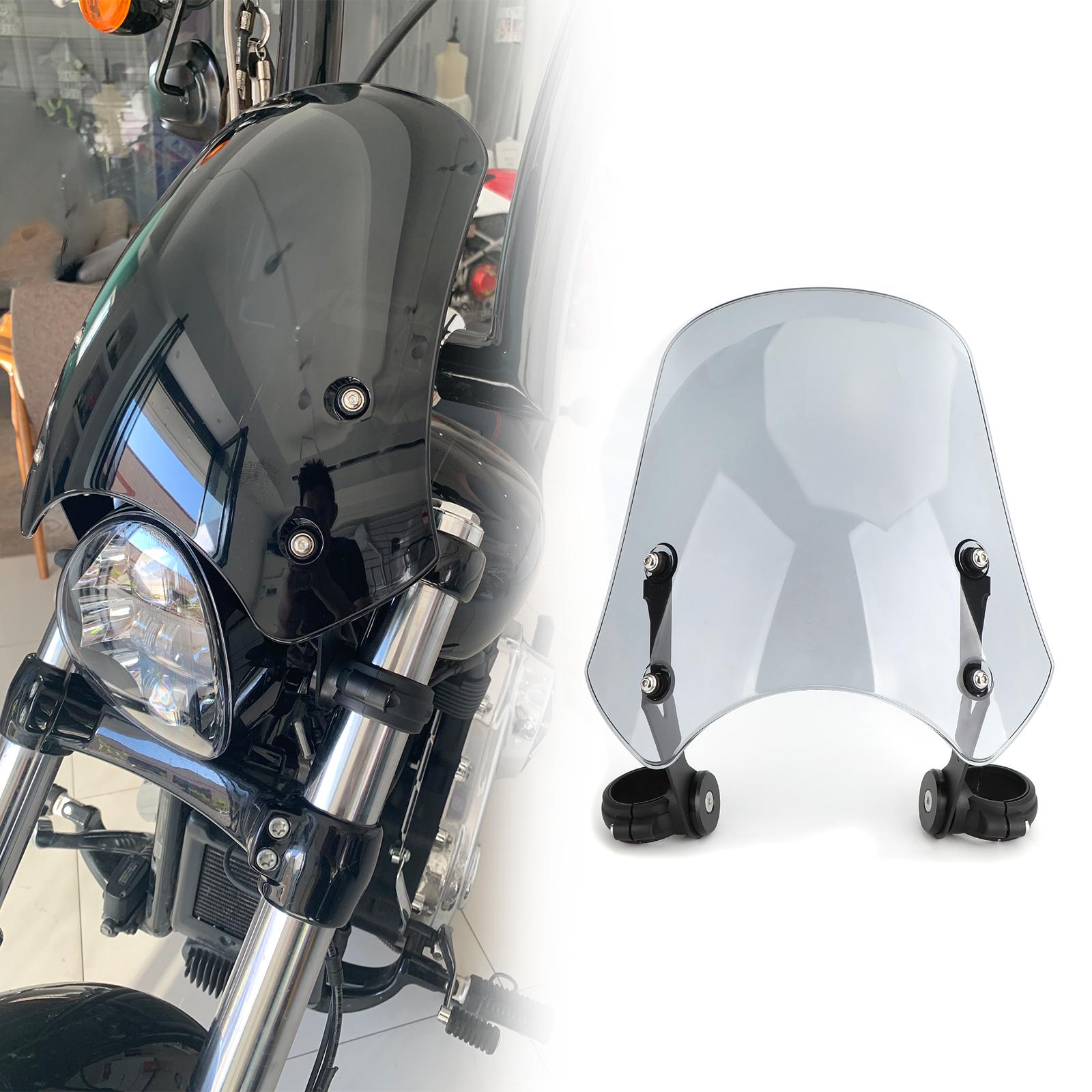 Artudatech Pare-brise en plastique pour moto Harley Dyna Softail