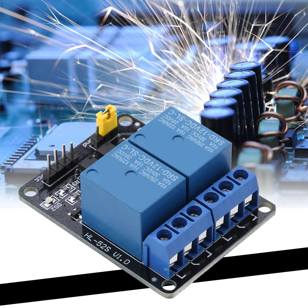 2 Channel 5V//12V 10A Relay Module With Optocoupler for Arduino RPi ESP8266