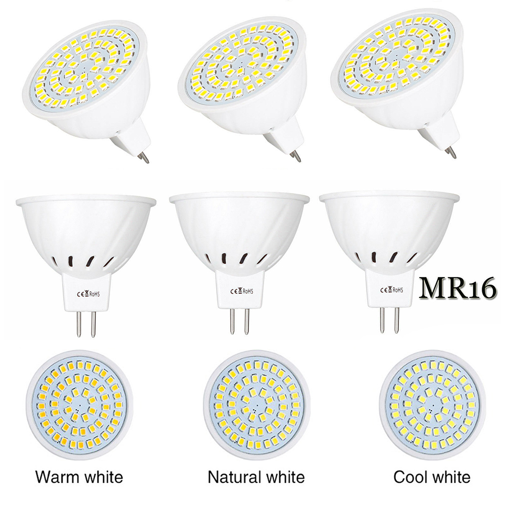 Home, Furniture & DIY 4/6/10 PACK LED MR16 Light Bulb 3W/5W/7W AC/DC12V-24V AC110V/AC220V 30W-70W Bulb