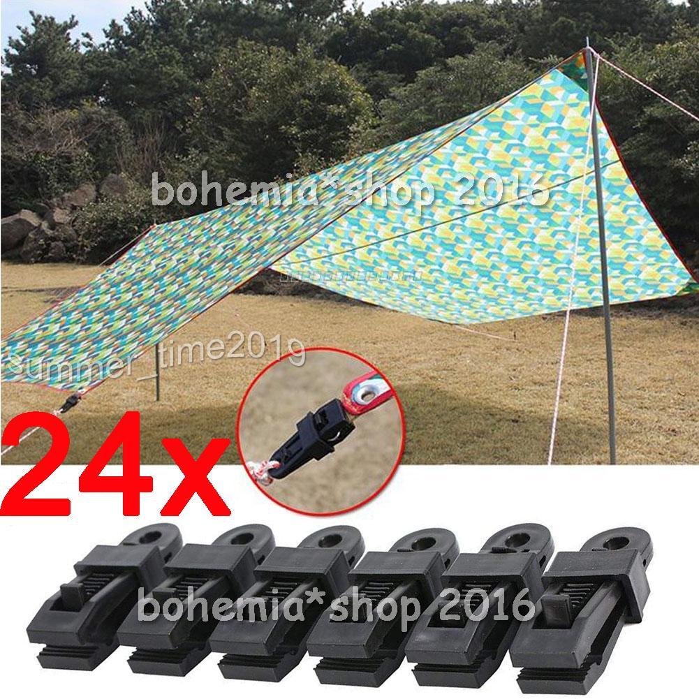 20 STÜCKE Kunststoff Zelt Clips Clamp Camping zelt Plane Clips outdoor  Lo