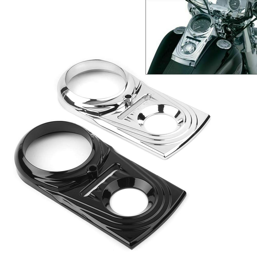 Dash Cover Speedometer Cover Black for Harley-Davidson Softail FLSTF 11-17