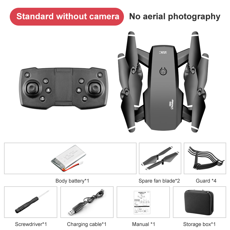 Foldable RC Drone Quadcopter with 2.4G HD 4K Wide-angle Dual Camera Drone UK~