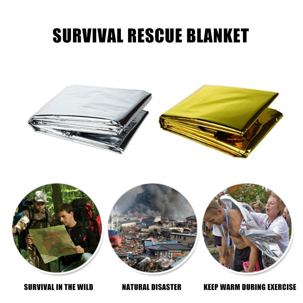 First Aid Waterproof Camping Survival 2x Premium FOIL Thermal Emergency BLANKET