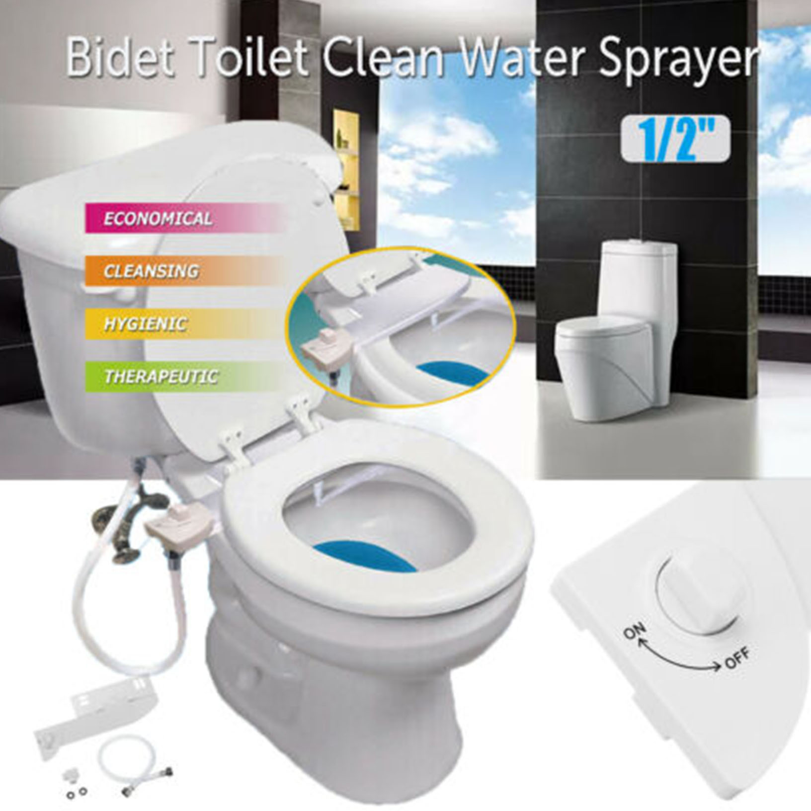 Non Electric Bidet Toilet Seat Cover Bathroom Bidet Spray Smart Cleaning Ebay