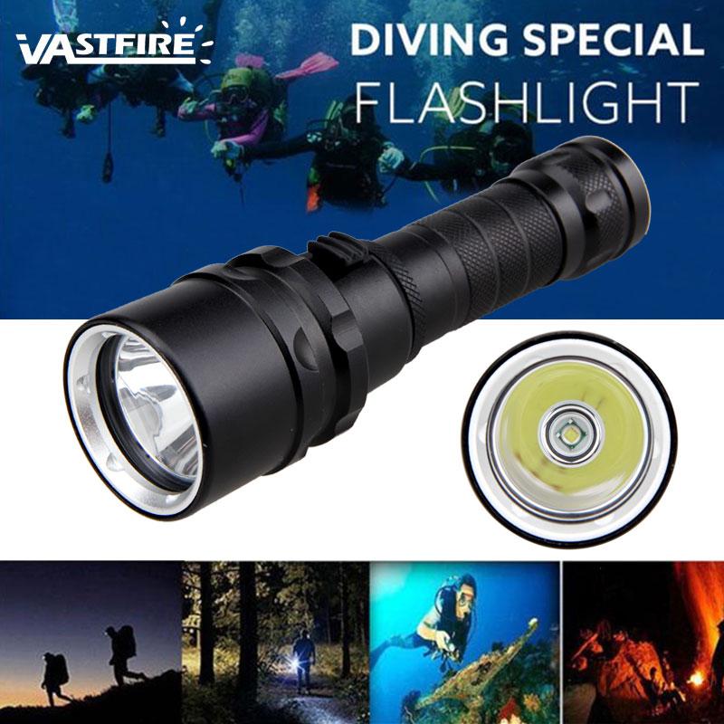 Waterproof Diving 15000LM 5x XML T6 LED Scuba Flashlight Torch Light  2*18650+CH