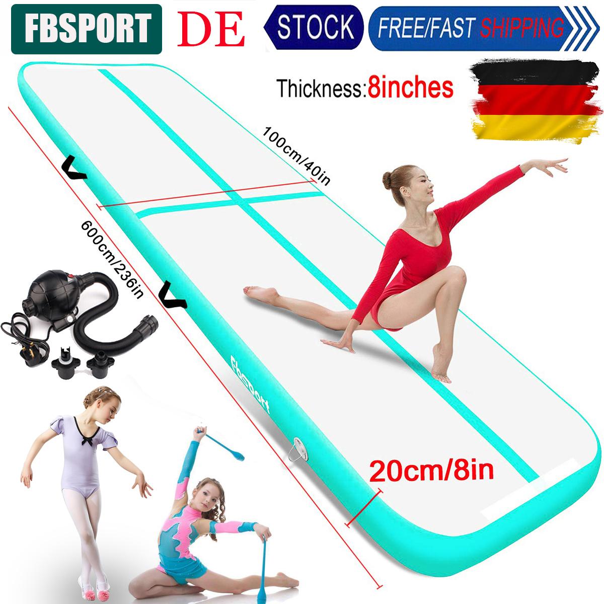 20cm Dick Air Track 6m 7m 8m da ginnastica tappetino Tumbling tappetino tappetino Turn con pompa