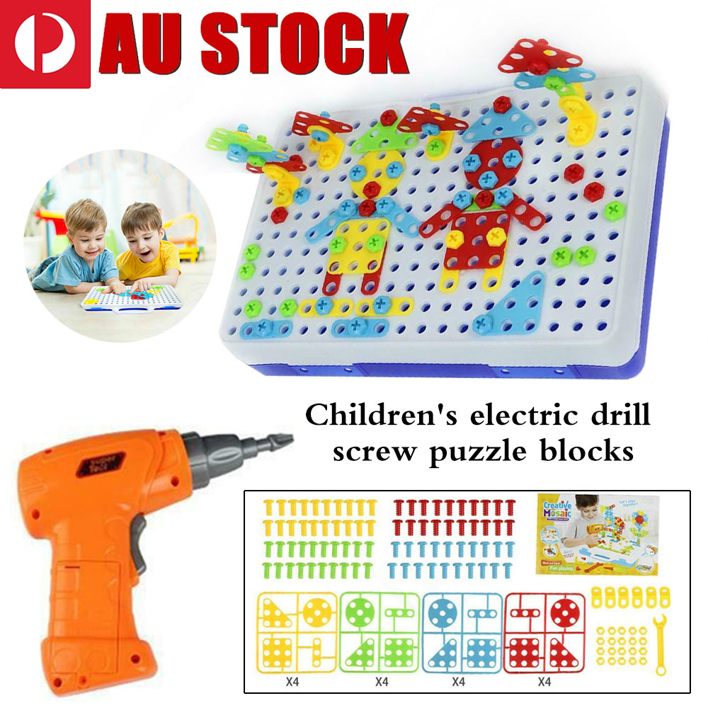 Jigsaw Puzzle Platter DIY Hand Disassembly Screw Kid Toys With Electric Drill