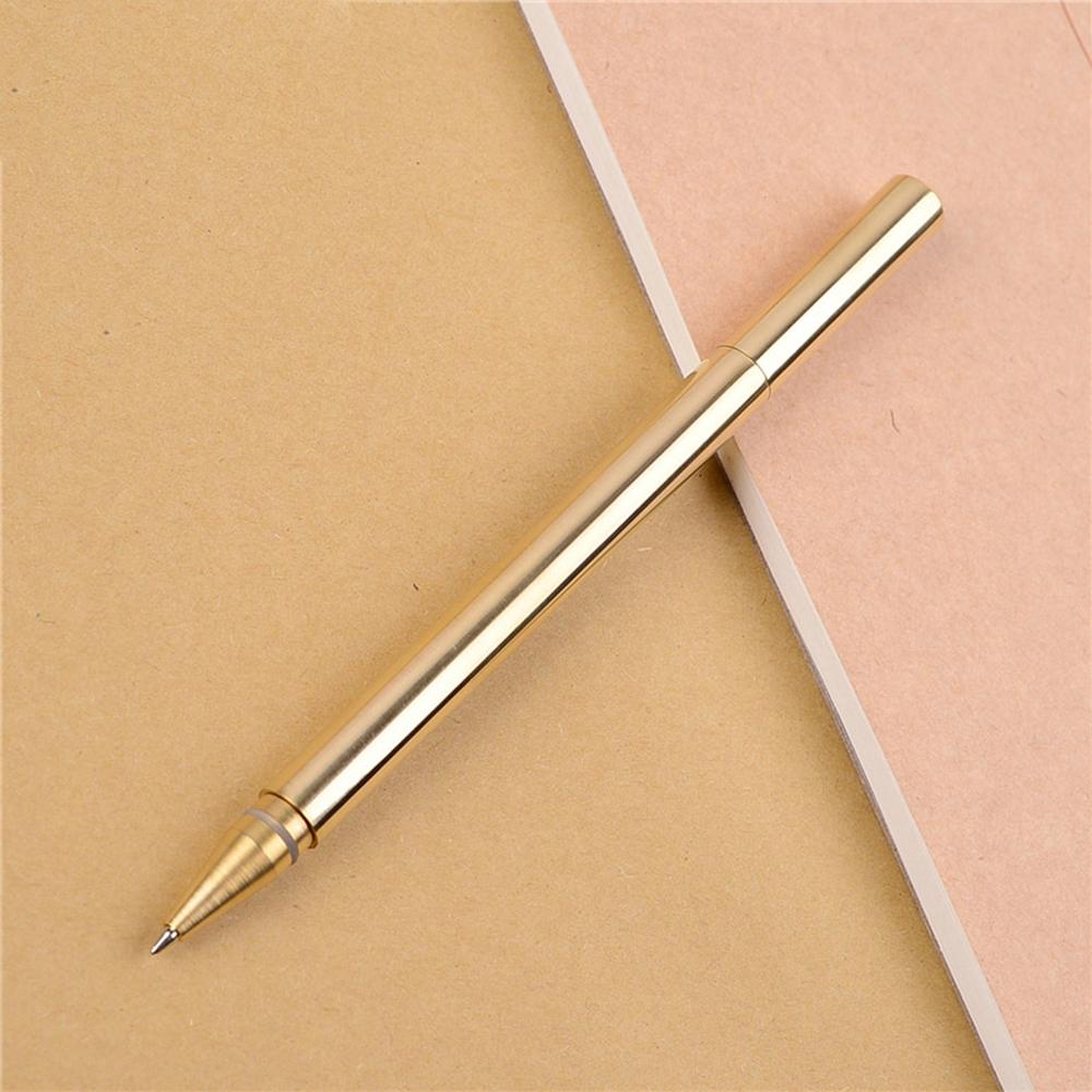 Federbeutel für Schriftlich Geschenke Metall Kugelschreiber Kuli Stift Messing