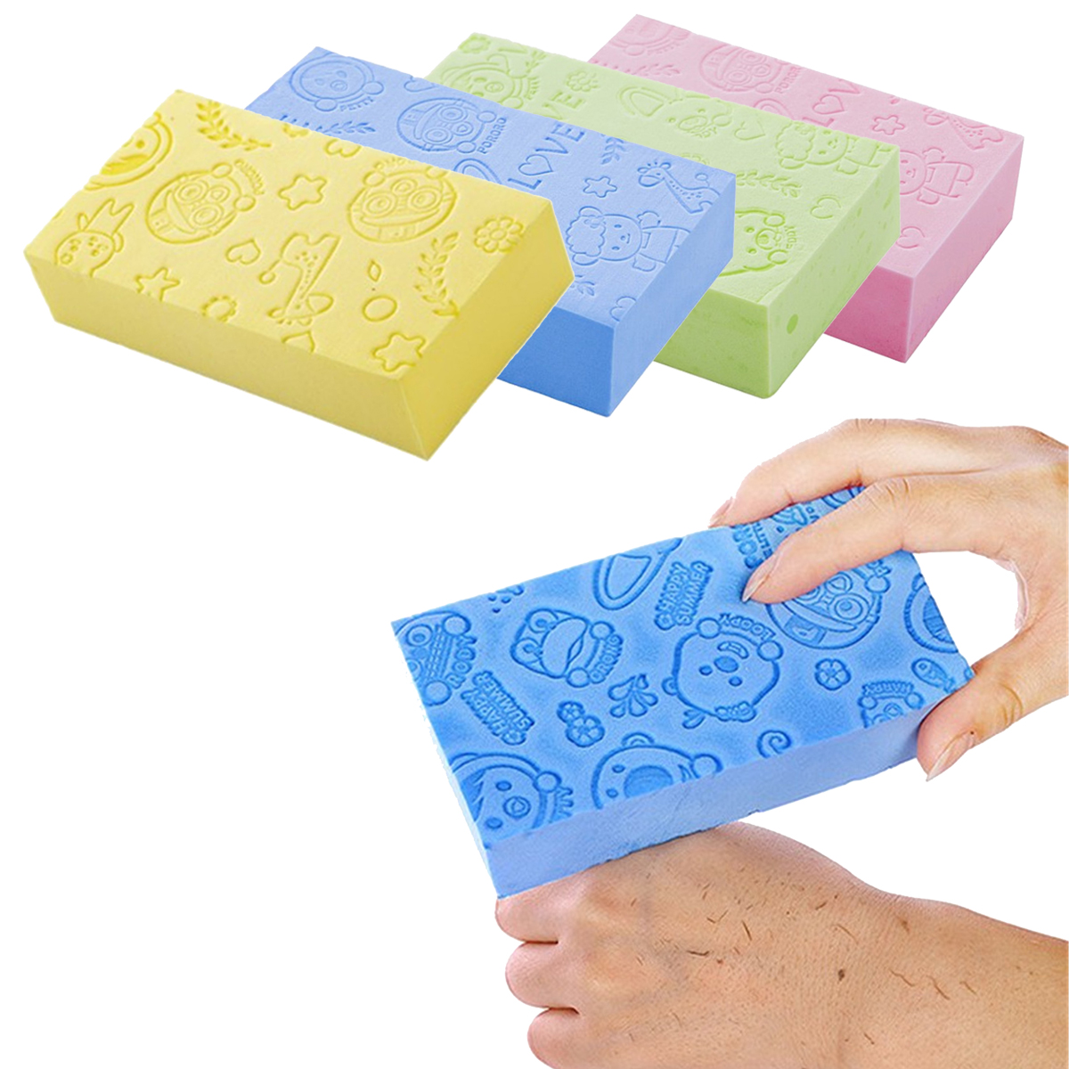 Adult Kid Exfoliating Sponge Beauty Skin Bath Shower Facial Face