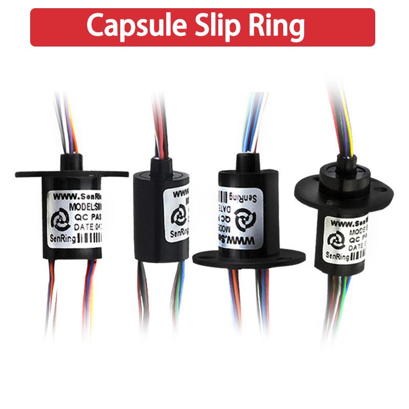 212.5mm 300Rpm 6 cables circuitsx 2A anillo colector de cápsula AC 240V Para Monitor robótica