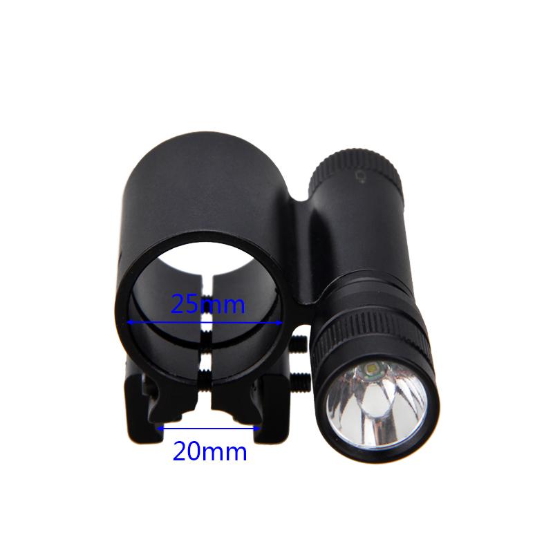 Taktisch Rot Grün Laser Sight XPE LED Jagd Taschenlampe 20mm Schienenhalterung