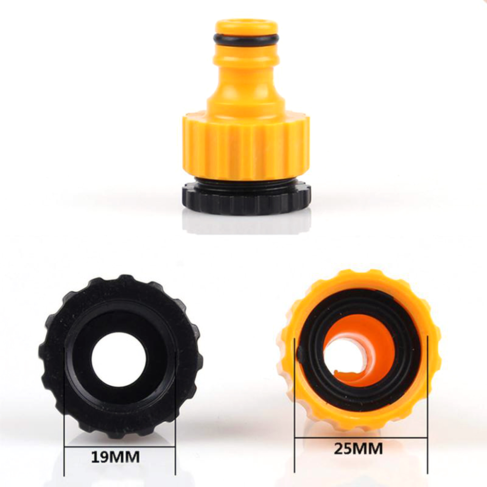 "1//2/"" 3//4/"" Screw on Threaded Tap Connector Joiner Garden Hose Pipe Lock Adaptor"