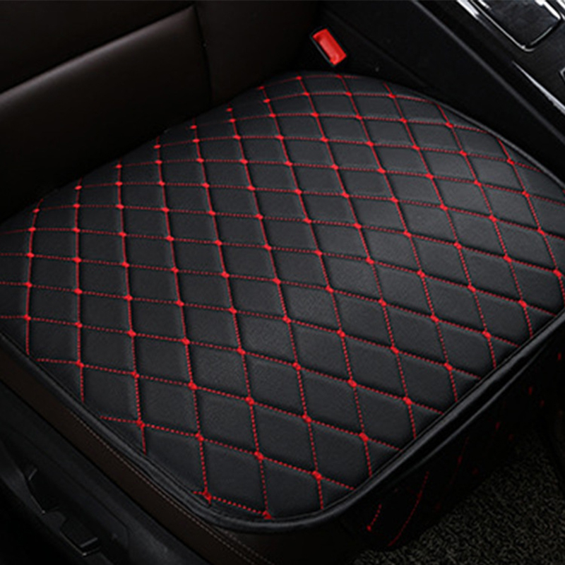 Breathable Fabric Cushion Chair Mat Pad Protector 2pcs Red Car Front Seat Cover
