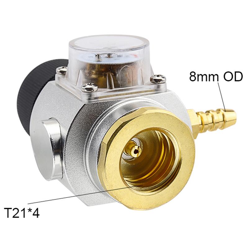 "Neu 5//6/"" Sodastream Co2 Mini Gas Regler Druckminderer Druckregler Manometer"