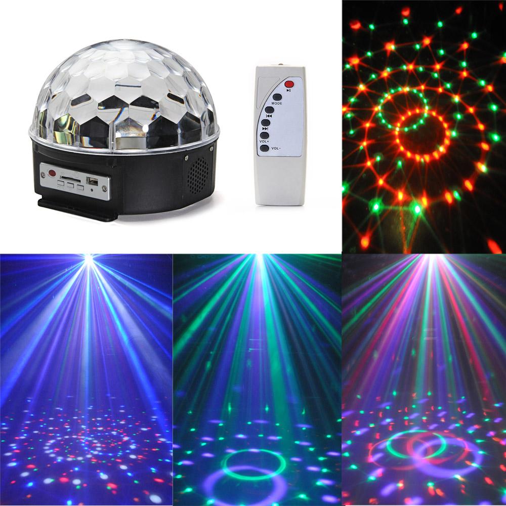Croled-Cristal-MP3-Dj-Club-Disco-Fete-Boule-Magique-Scene-12W-Rvb-Feux-Ampoules miniature 2