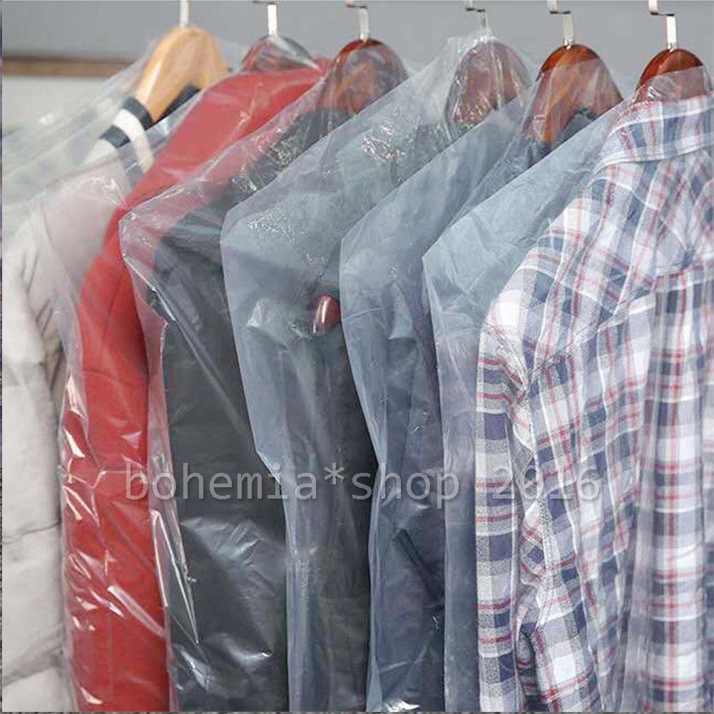 10//20 Pcs Kleiderschutzhülle Kleidersack Schutzhülle transparent Mantelschutz