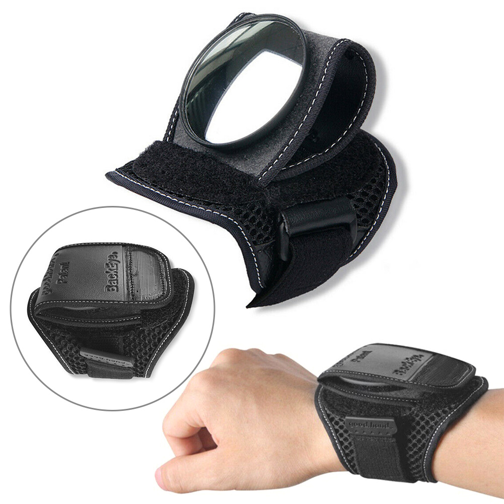 360° Hand Cycling Wrist Mirror Rear View Rearview Safety Bike Arm Back Mirror