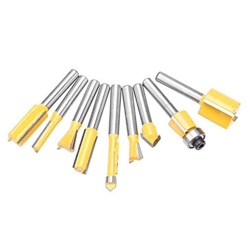 "Yellow Router Bit Set 24PCS 1//4/"" Shank Handle Wood Work Milling Cutter Tool"