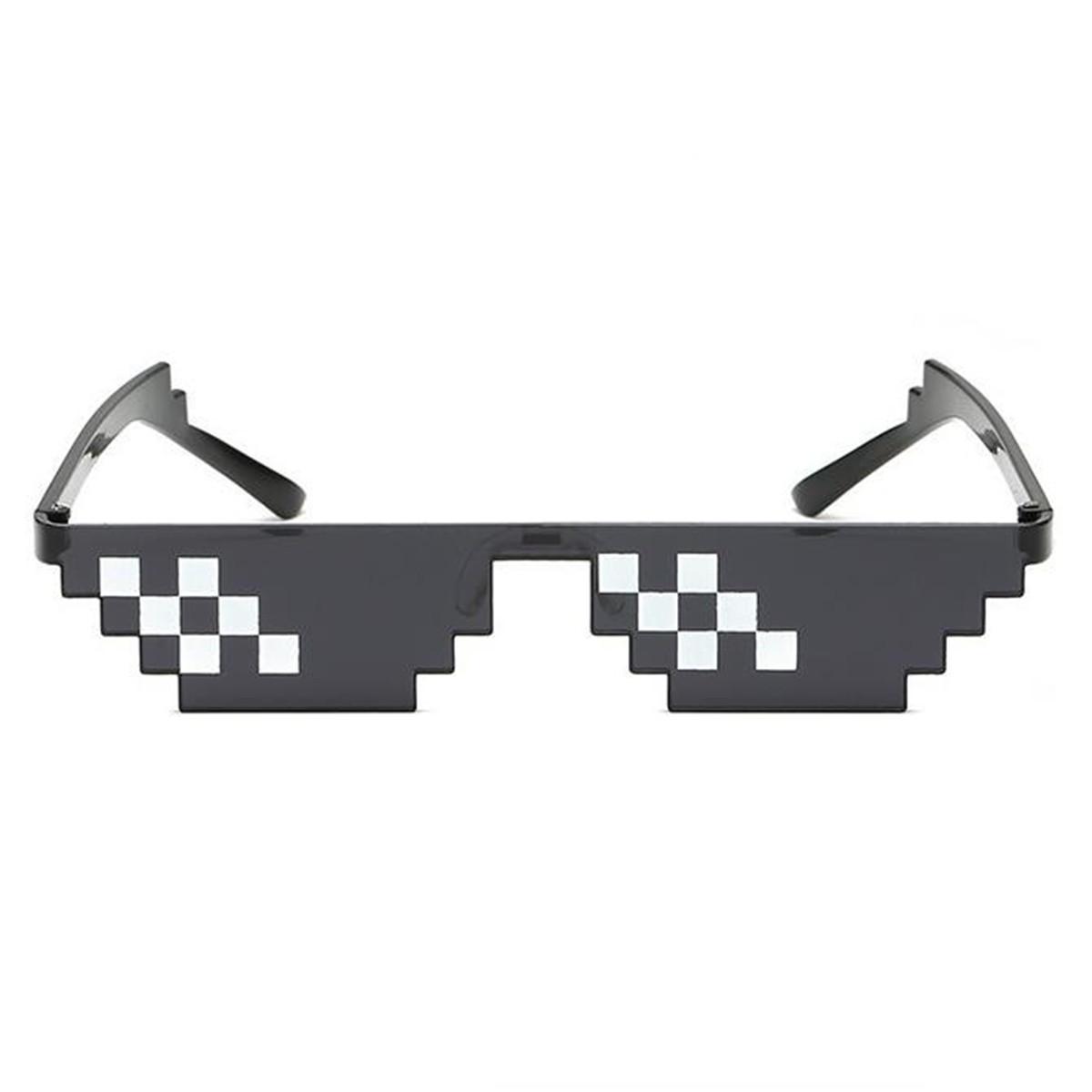 1pcs Mosaic 8 Bit Pixel Deal With It Sunglasses Unisex Thug Life Glasses Cool