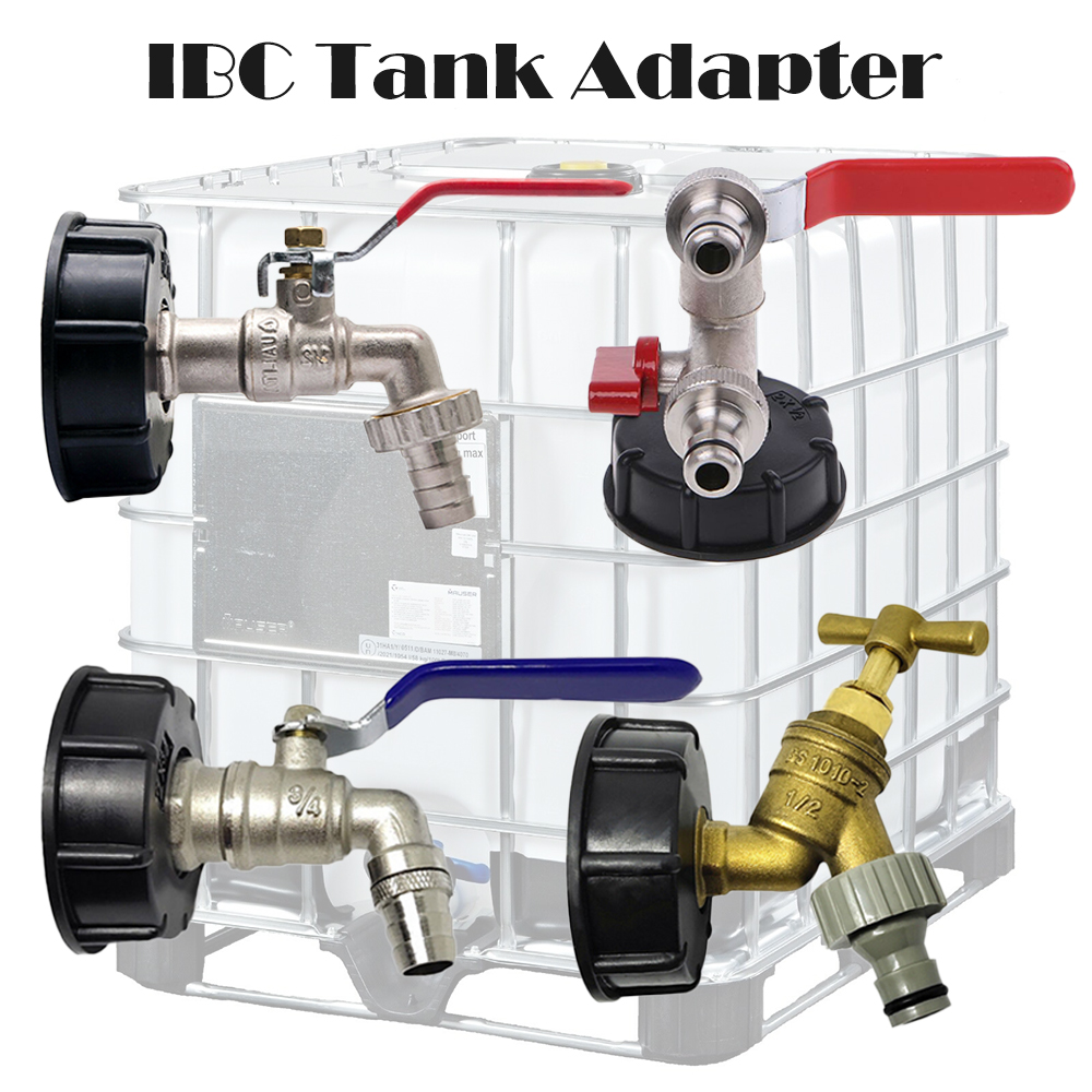 """IBC Tank Adapter 60mm Garden Water Tap Hose Connector Fitting Tool 1/"""" 1//2/"""" 3//4/"""""""
