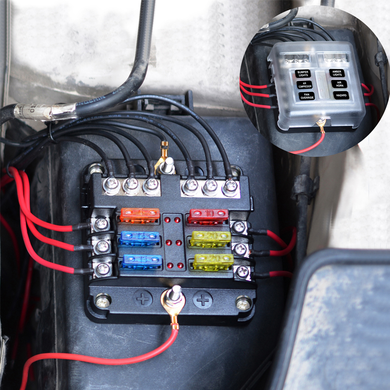 6 Way Blade Fuse Box Block Holder Terminal Circuit fr Car Boat 32V  Waterproof US | eBay