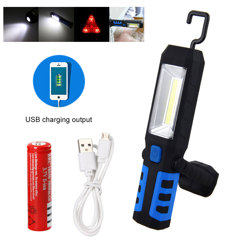 SAKURA Portable Magnetic LED 90 Lumen COB Inspection Lamp Work Flashlight Torch