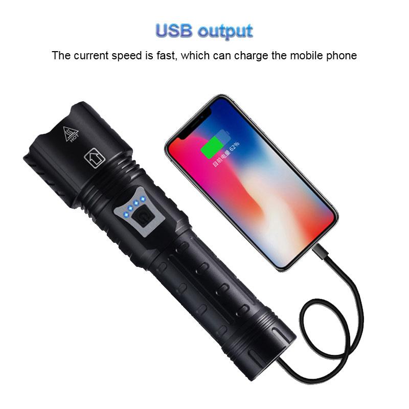 XHP160 XHP120 P90 P70  LED Taschenlampe Bright Torch USB Wiederaufladbar Zoombar