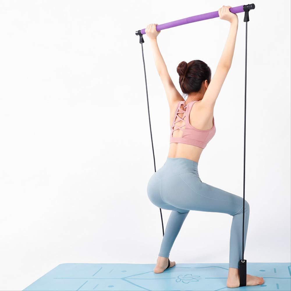 Portable Pilates Stretch Rope Gym Sticks Yoga Exercise Bar Pilates Trainer Rope