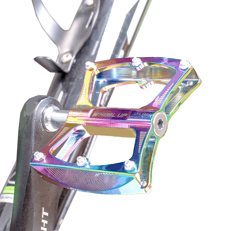 MTB Mountain Bike Pedals 3 Sealed Bearings Pedals Flat Platform Aluminum Pedal