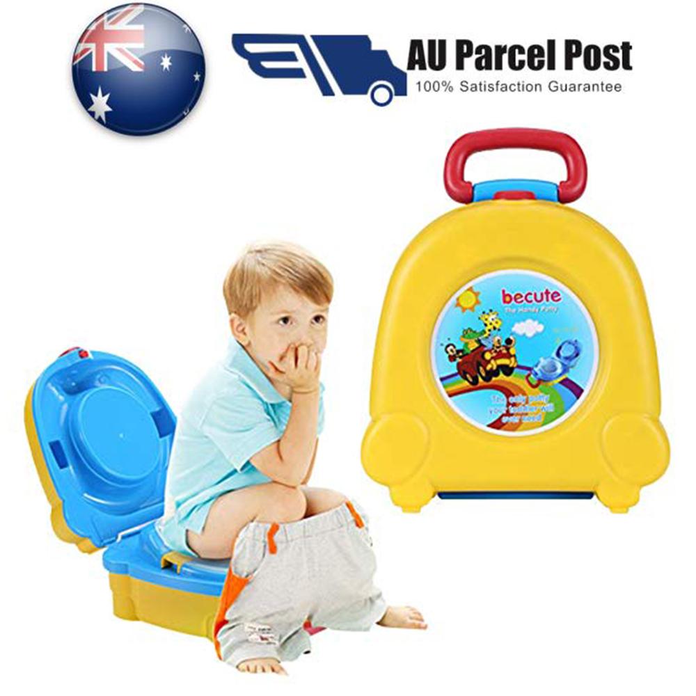Kids Toilet Seat Baby Child Toddler Training Potty Portable Travel Yellow Pink